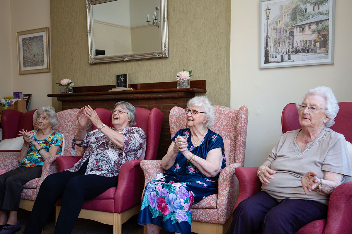 Being entertained at Beulah Lodge Rest home in Tunbridge Wells